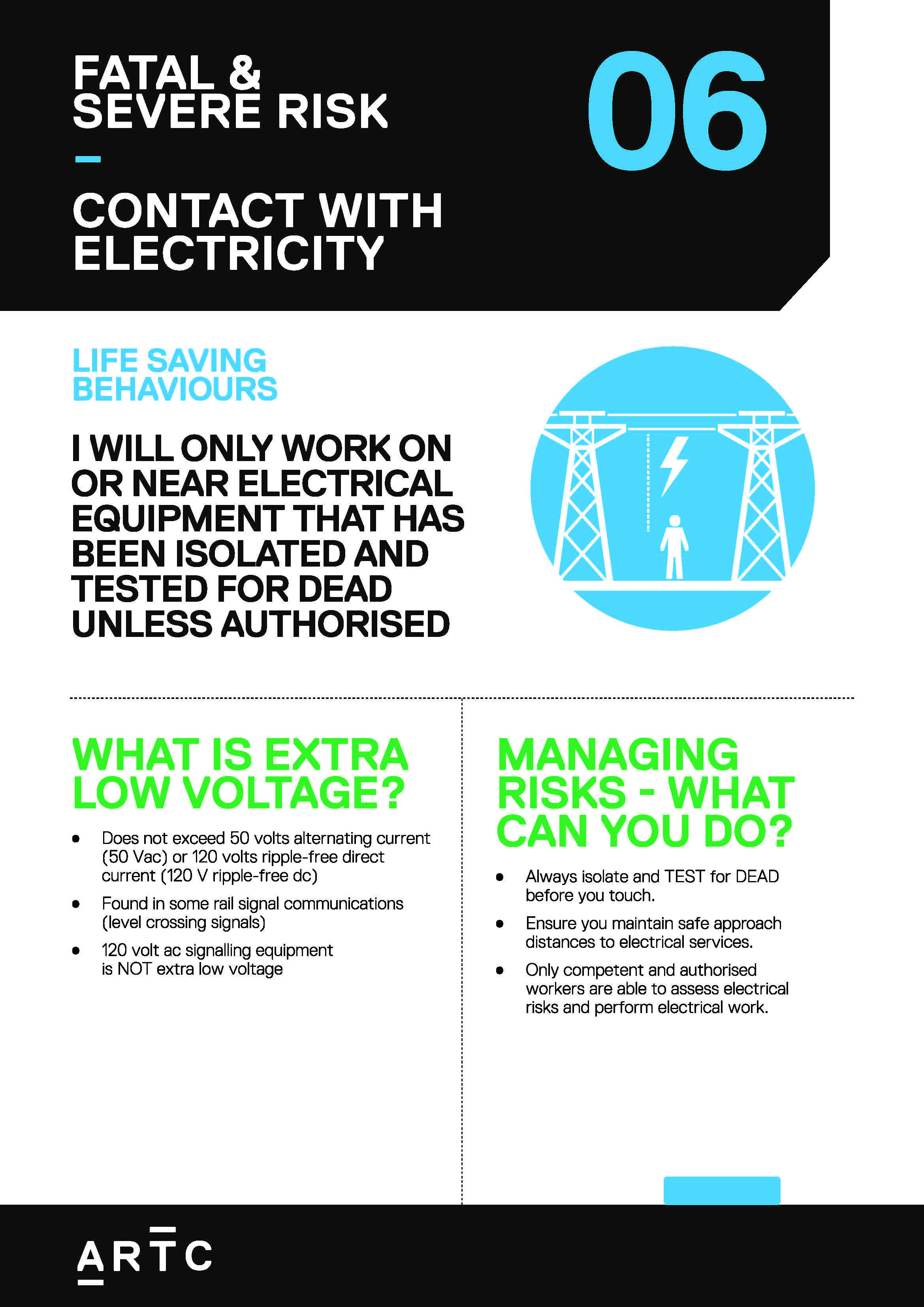 Contact with Electricity – ARTC